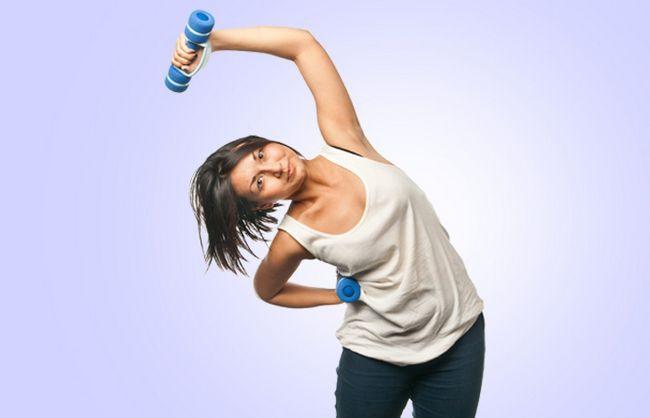 Dumbbell Curvatura lateral Exercício