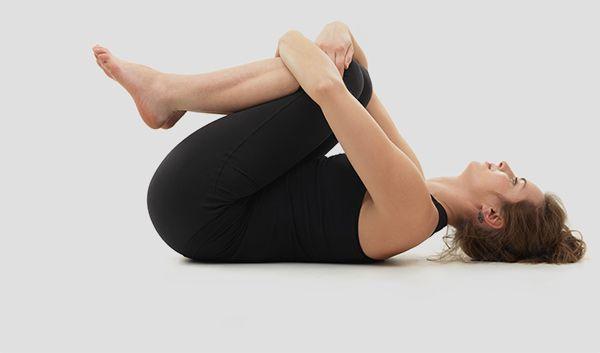 Wind-alívio-Yoga Pose