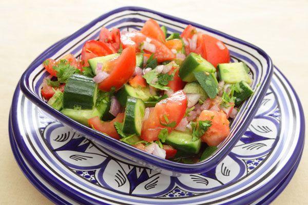 Salada marroquina tomate