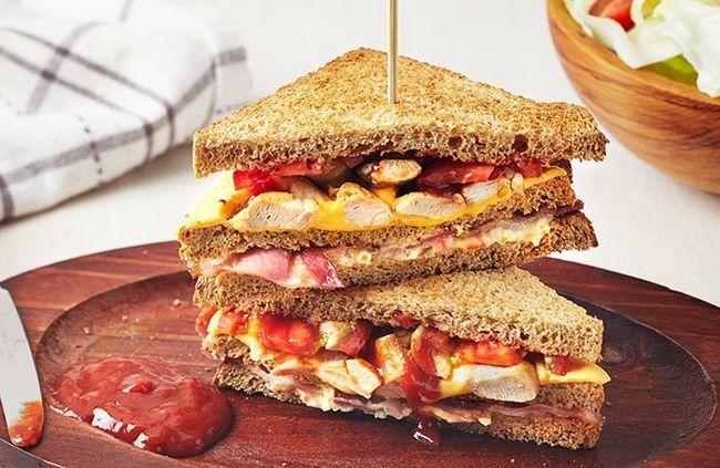De frango e milho-Sandwich