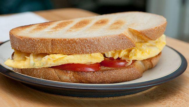 Ovo e queijo-Sandwich