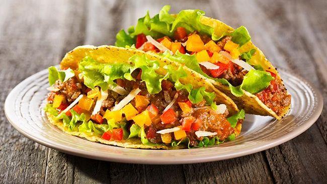 Taco-salada-sanduíche
