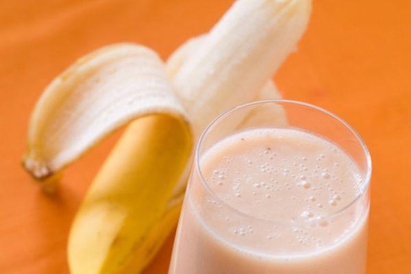 shake de proteína e banana