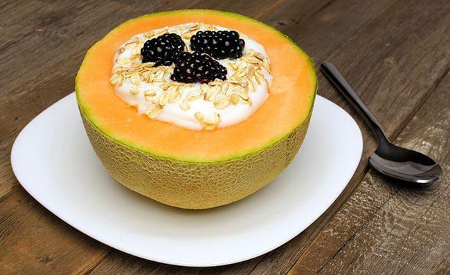 Iogurte-Cantaloupe