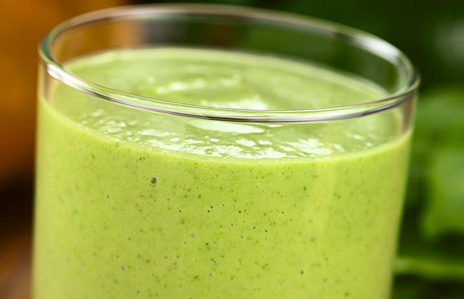 Collard Verde E Mango Smoothie