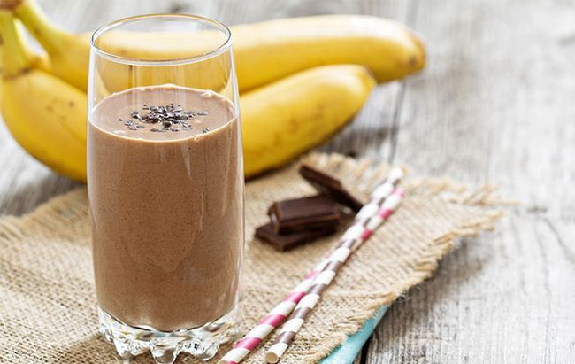 Banana e chocolate Smoothie