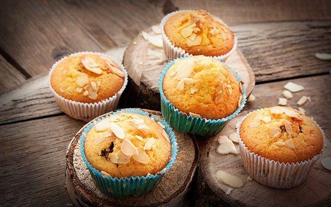 Cherry-Amêndoa-Muffins