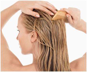 pontas do cabelo pentear molhado