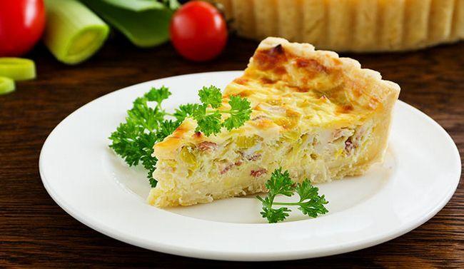 Bacon e do ovo-Pie