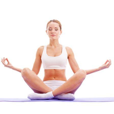 yoga lotus branco