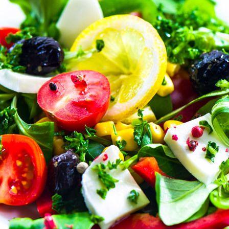 Salada de milho fresca