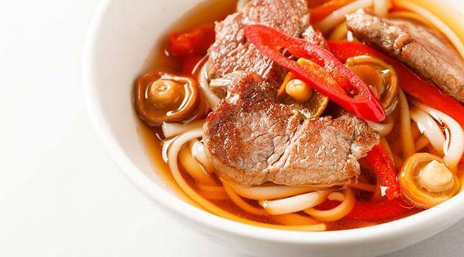 Fácil Carne E Pasta Soup