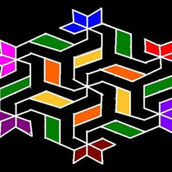 25 Designs Rangoli com pontos para tentar em 2015 Photo