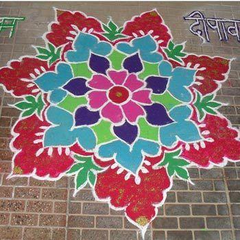 30 simples e fácil Rangoli Designs tentar este época festiva Photo