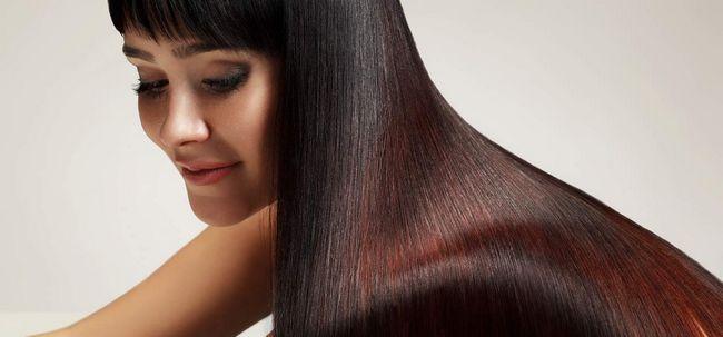 4 passos simples para cabelos brilhantes Photo
