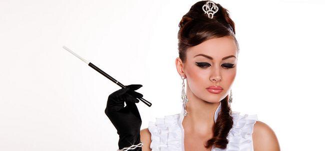 5 ideias de maquiagem Inspirado elegante de Hollywood Photo