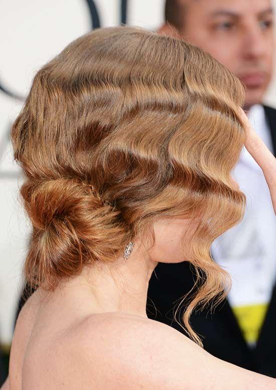 Vintage-texturizados-cabelo-com-Low-Twisted-Bun