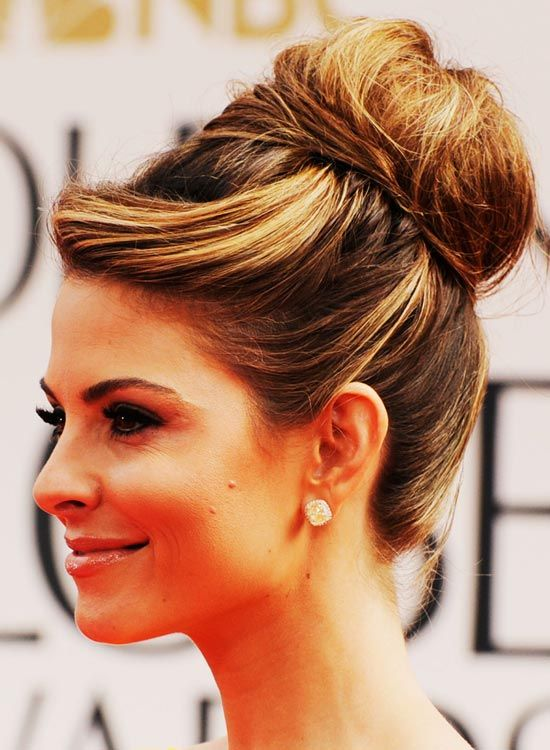 Hair-Envolvido de alta-Bun-com-Twisted-Front-e-Puffy-Crown