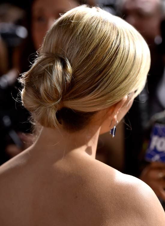 Low-dobrado-Updo-on-Golden-Blonde-Hair