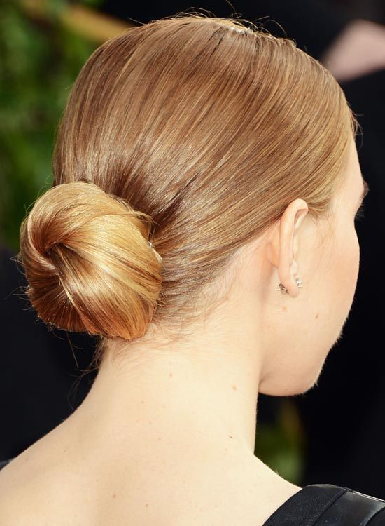 Low-Small-Twisted-Bun-on-Bege-Blonde-Hair