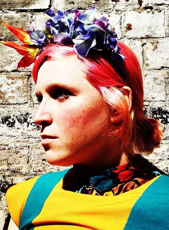 Faixa do cabelo Flor Colorido