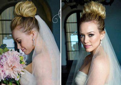 casamento cabelo Hilary Duff