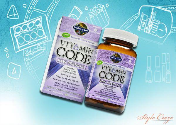 jardim do código da vida vitamina pré-natal em bruto