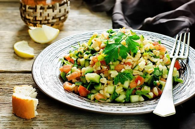 Salada de lentilha Bulgur