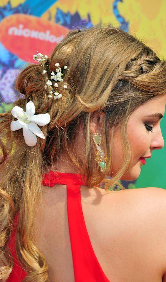 Real Penteado Flores Plaited