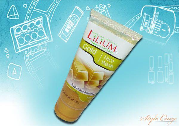 lilium lavar o rosto à base de plantas