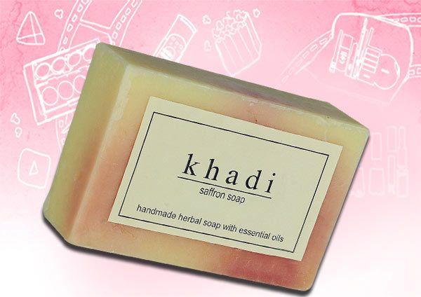 khadi sabão açafrão