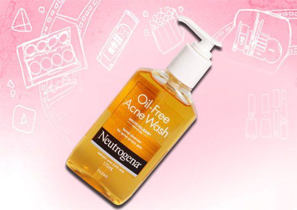 lavar o rosto acne livre de óleo Neutrogena