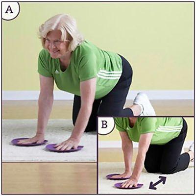 exercício de slides braço pé