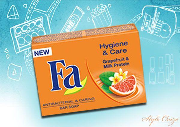 Fa Higiene e Cuidados Grapefruit & Milk Protein Bar Soap