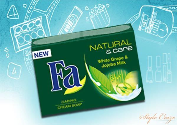 Fa Natural & Care Grape White & Jojoba Milk Bar Soap
