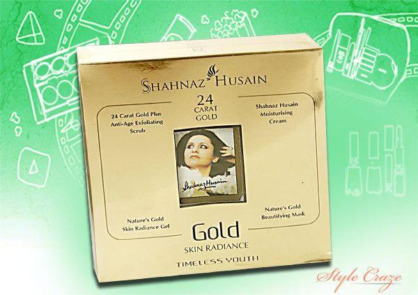shahnaz kit facial do ouro