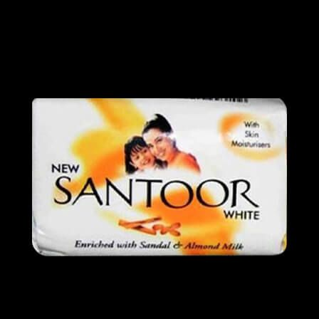 sabão branco santoor 55 gms