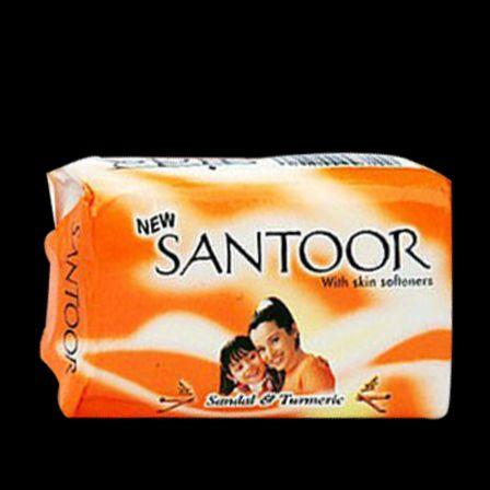 Santoor Branco Sandália & sabonete de leite de amêndoa