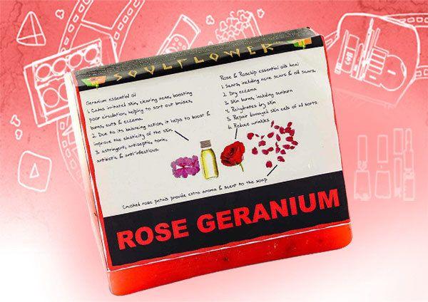 soulflower gerânio rosa avaliação sabão