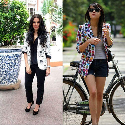 blazers impressos mulheres