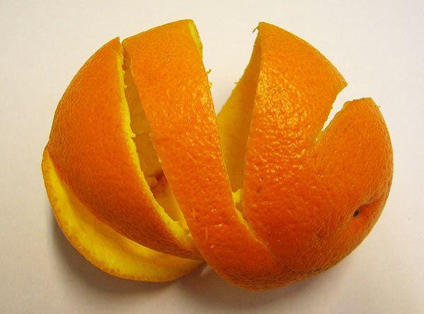 casca de laranja para remover a caspa