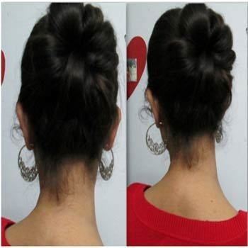 Updo elegante para o desgaste indiano: Tutorial Photo