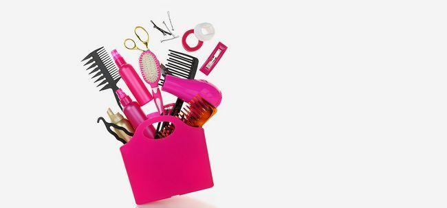 Cabelo produtos de styling para estilos de cabelo impecável Photo