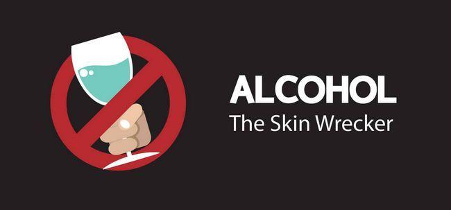 Como o álcool danificar a pele? Photo