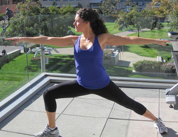 pose do guerreiro da ioga