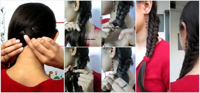 Side Swept Peixe Braid Tutorial Com Pictures Photo