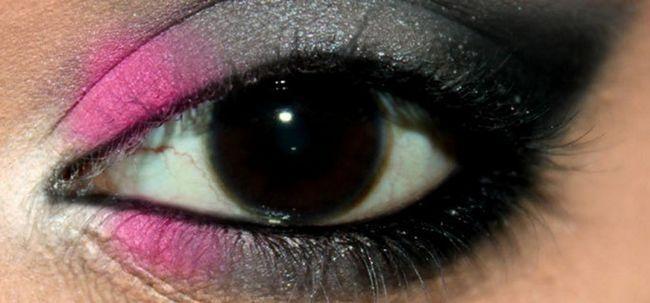 Sensual rosa e cinza Eye Makeup - Tutorial Com Etapas detalhadas e imagens Photo