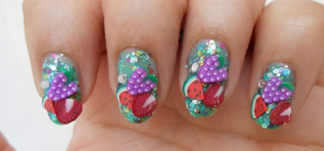 Verão Fimo Fruit Nail Art Tutorial Photo