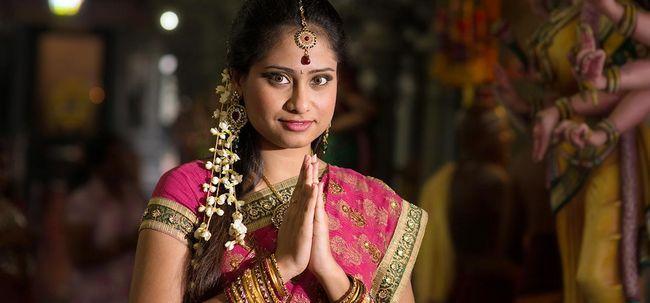Maquiagem Tamil nupcial - tutorial passo a passo Com Pictures Photo