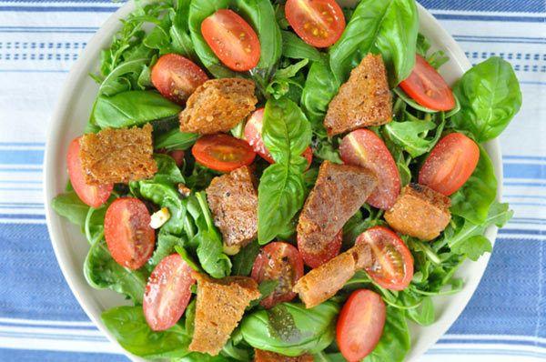 manjericão salada caesar